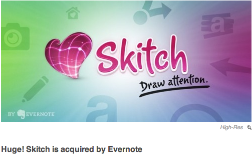 Skitch is acquired by Evernote A Great  Skitch Heart Love