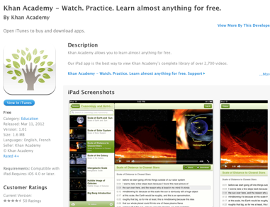 Khan Academy  Watch Practice Learn almost anything for free for iPad on the iTunes App Store